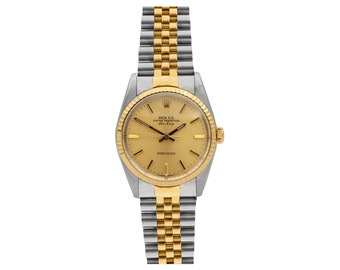 Rolex Air-King, Ref.# 5501, Two-Tone 18k YG/SS, Fluted Bezel