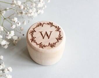 Monogram Ring Box, Custom Wood Ring Box, Wood Ring Bearer Box, Rustic Ring Box, Custom Ring Box, Wedding Ring Box, Proposal Box, Ring Box
