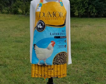 recycled feed bag apron