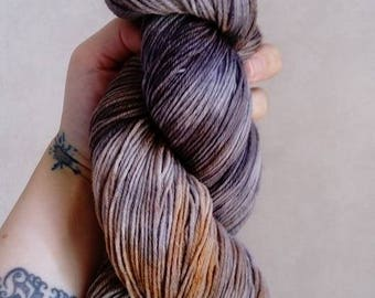 """Wool hand dyed by hand 100% Merino Wool """"Old-fashioned"""""""