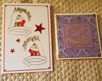 Handmade Christmas cards, festive season cards, merry Christmas, personal cards