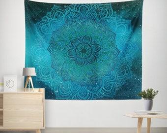 Boho Tapestry,Bohemian Tapestry,Mandala Tapestry,Hippie Tapestry,Indian Tapestry,mandala wall hanging,Mandala Teal Tapestry