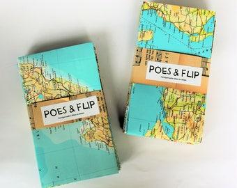 Gift Bags | Pack of 10 or apiece, Atlas, maps, world maps, handmade giftbags