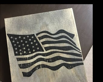 Weathered Stress American Flag