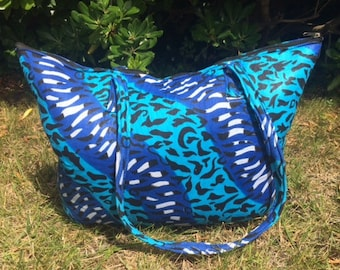 Soft African fabric with shoulder tote bag