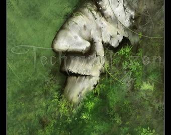 ANCIENT - fantasy landscape print