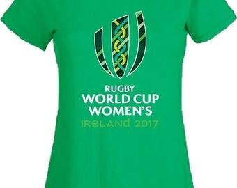 Rugby Women's World Cup Ireland 2017 T Shirt England Wales Scotland Australia USA Women Ladies Top Gift