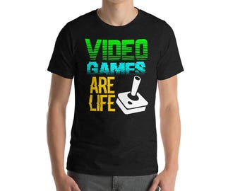 Video Games Are Life Funny Gamer Gaming PC Console Xbox Gamer Birthday Gift Idea Shirt