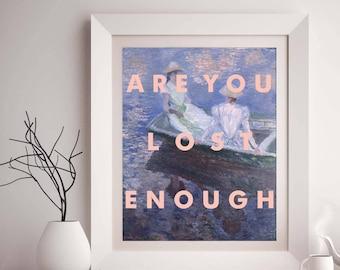Lorde Art Print, Music Poster, song lyrics, wall art, fine art, Monet, Perfect Places, Melodrama, pop, indie, 8x10 print, Gift Ideas