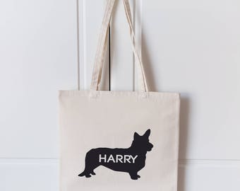 Corgi Tote Bag | Personalised DogTote Bag | Corgi Dog Bag | Dog Lover Gift | Custom Name Bag | Dog Shopping Bag | Tote Bag | Corgi |