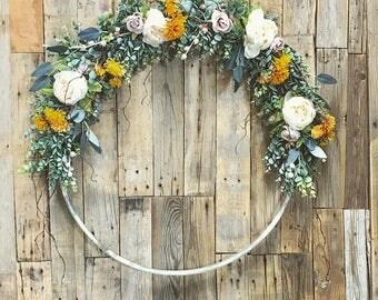 Large Barrel Ring Wreath