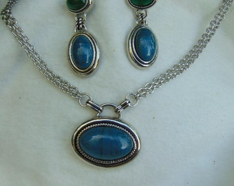 Vintage, Jewelry Set, Variscite Gemstone, Shipping Included