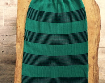 Turquoise Striped Skirt