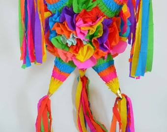 Large floral star Piñata with 5 tips