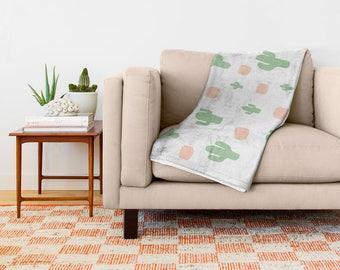 Cactus Throw Blanket, Cactus Blanket, Throw, Sofa Blanket, Sofa Throw, Blankets and Throws, Fleece Blanket, Soft Blanket, Fleece Throw