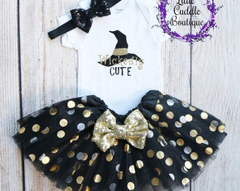 Halloween Baby Outfit, Wickedly Cute, First Halloween Outfit, Sparkle Tutu, Halloween Baby Gift, Halloween Girl Outfit, Baby, Cute Halloween