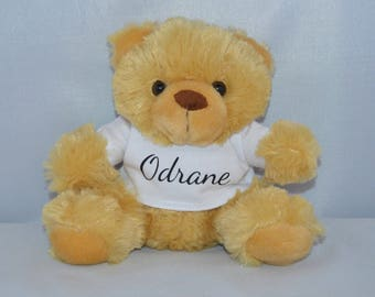 Teddy bear personalized name Sam, Maxime Louis Elise, sweetheart