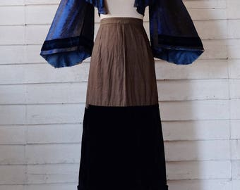 Antique Civil War Day Dress / 1860s Bodice and Petticoat / Antique Day Dress / Victorian Dress