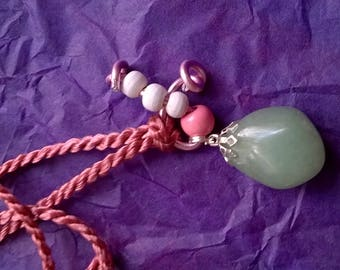Price-small gift idea. A nice idea for Valentine's day. AVENTURINE stone necklace, with a nice soft green.