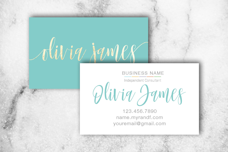 Skincare Business Card Rodan Fields Business Card Blue