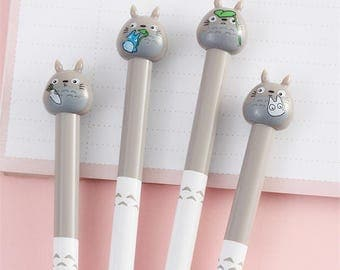 Totoro Gel Pen - Studio Ghibli Kawaii Stationery - Cute School Supplies - Bullet Journal and Planner Accessories - Stocking Filler/Stuffer