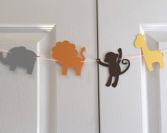 Cardstock Zoo Animal Silhouette Banner