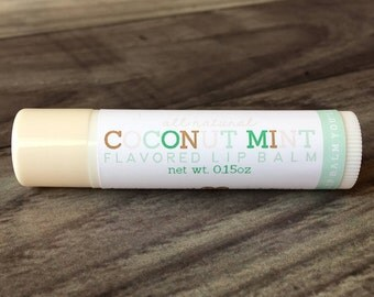 COCONUT MINT Lip Balm - All Natural - Handmade