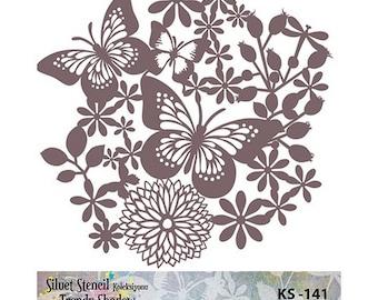 Stencil Masking, KS 141,  24x24 cm, mask stencils, fabric stencil.