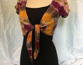coklorful women's tie dye top size L