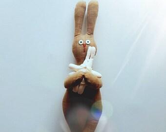 Easter Bunny, Interior doll, handmade doll, fabric doll, soft toy, OOAK doll, Bunny doll, BingBing Bunny