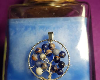 Tree of life Sodalite and silver