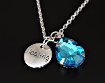 Healing Necklace, Healing Charm, Healing Pendant, Healing Jewelry, Healing Gifts, Cancer Awareness, Cancer Necklace, Cancer Jewelry