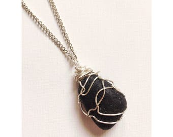 Handmade Lava Stone Necklace