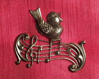 Sterling Lang Singing Bird Pin
