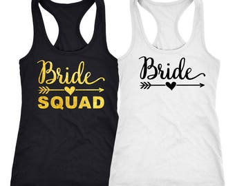 Bachelorette party shirts, Bride Squad shirts, bridesmaid Shirts , Bachelorette shirts, bachelorette party, bridesmaid tee shirts   D3138