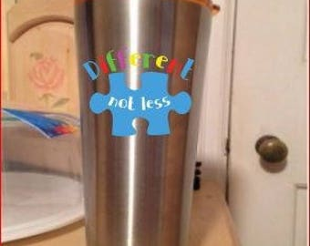 NO drama llama, Downs syndrome, Teacher,Autism , Hairdresser,  or fairy godmother option -20 ounce Black OR Stainless steel tumbler