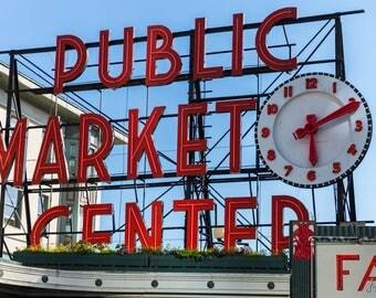 Pike Place Market in Downtown Seattle  WA