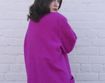 Bright Purple Wool Coat