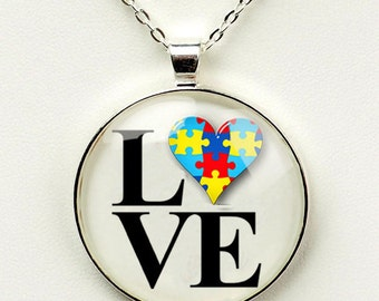 Autism Awareness Philly LOVE Pendant