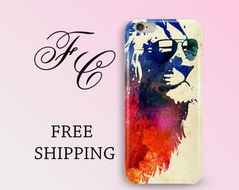 Cool Lion iPhone X Case iPhone 8 Case Animal Phone Case iPhone 7 Plus Case iPhone 7 Case iPhone 6 Plus Case iPhone SE Case iPhone 5s ddg