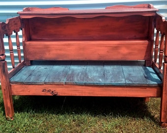 Reclaimed Twin bed bench