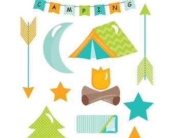 Kids Camping Stickers Kids Planner Stickers