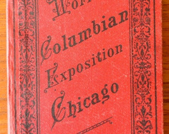 Rare! ANTIQUE 1893 WORLD'S COLUMBIAN Exposition Chicago Postcard Booklet No .65