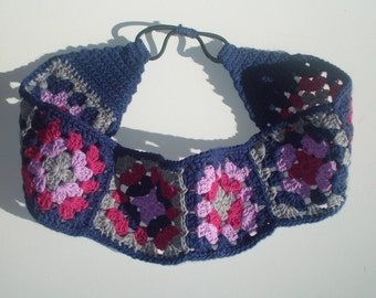 Women's Crochet Headband, Cotton Headband, Women's Headband, Girls Headband, Granny Square Headband, Hippie Headband, Boho Headband
