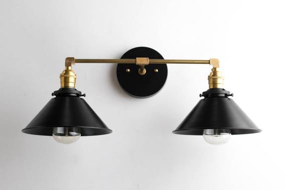 black bathroom light black brass vanity light bathroom wall lamp modern fixture 12093