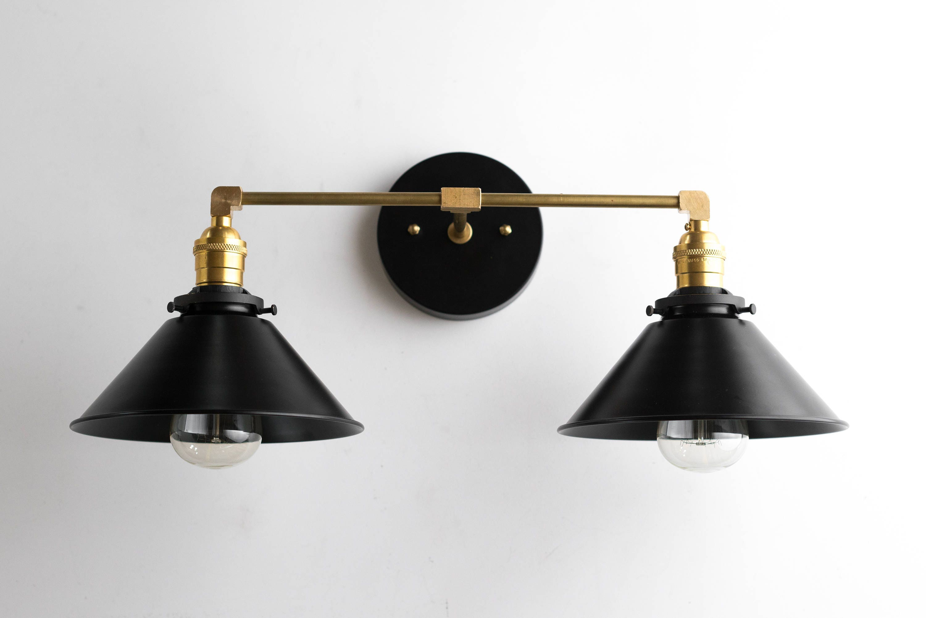 Black Brass Vanity Light Bathroom Wall Lamp Modern Fixture