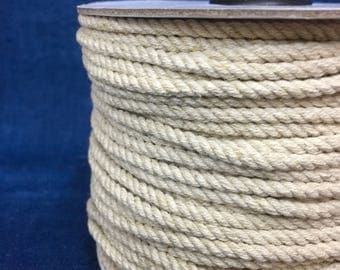 10x3 3mm String / linen coloured cotton twine / Soft Cotton and Jute mixed string / 10x3 / 55 yard roll / brown string