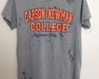 Distressed Carson Newman Shirt