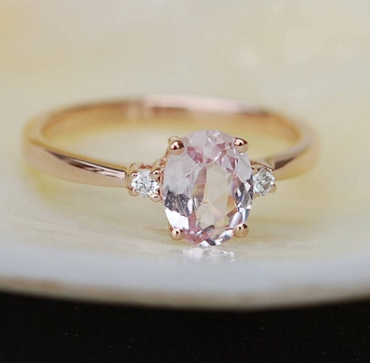 Emerald Cut Pink Sapphire Engagement Ring