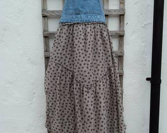 Upcycled dungaree dress